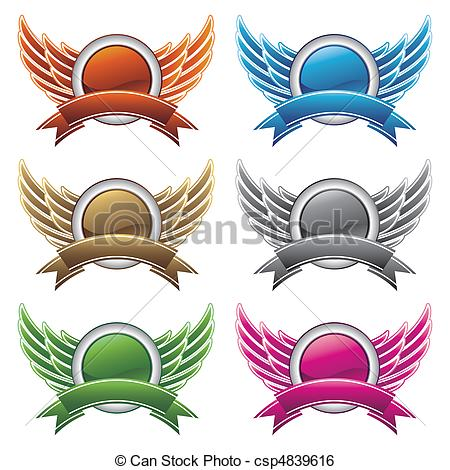 Wings clipart graphic design Design design elements wings Art