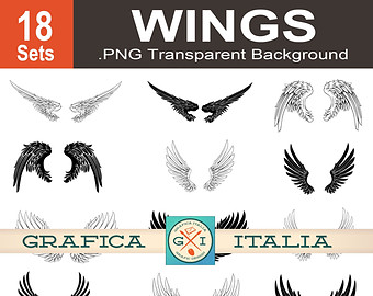 Wings clipart graphic design Art Wings Art 18 Clipart