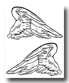 Wings clipart hermes wings Girly Stencil template percy