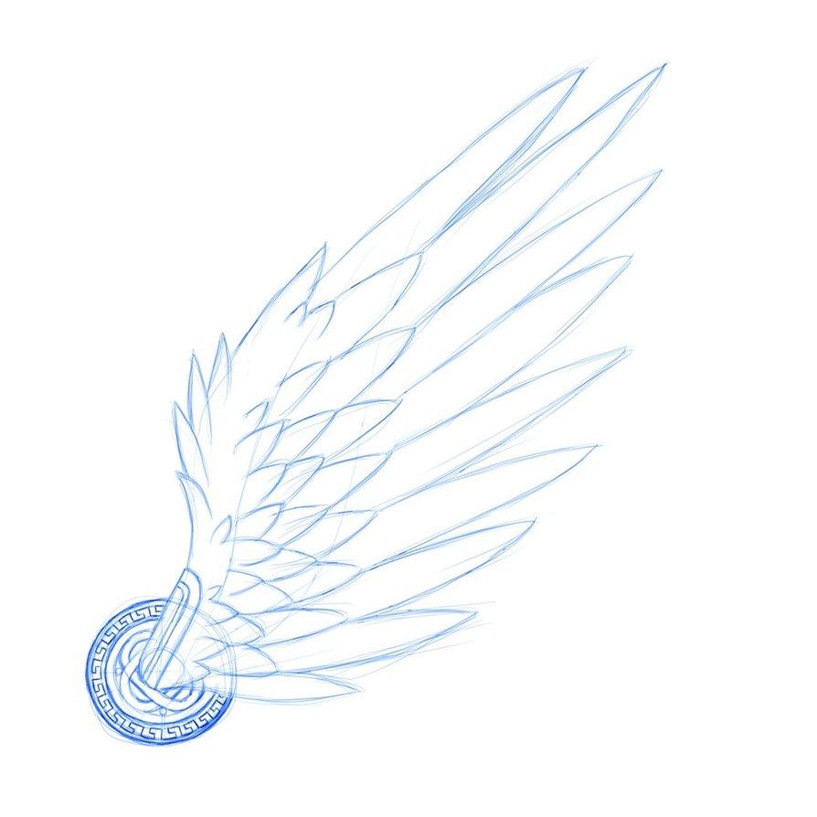 Wings clipart hermes wings Tattoos  hermes Tattoo wings