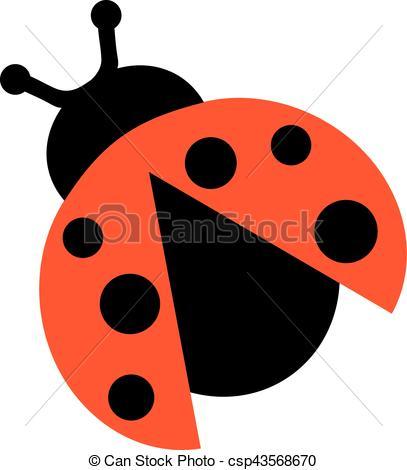 Wings clipart ladybug Open wings with  Ladybug
