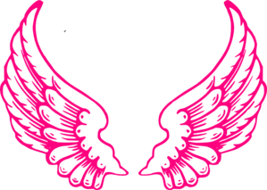 Wings clipart pink Clip vector Pink  Angel