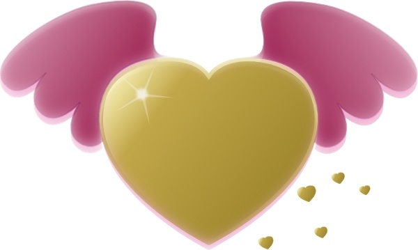 Wings clipart pink  Pink art Gold Open