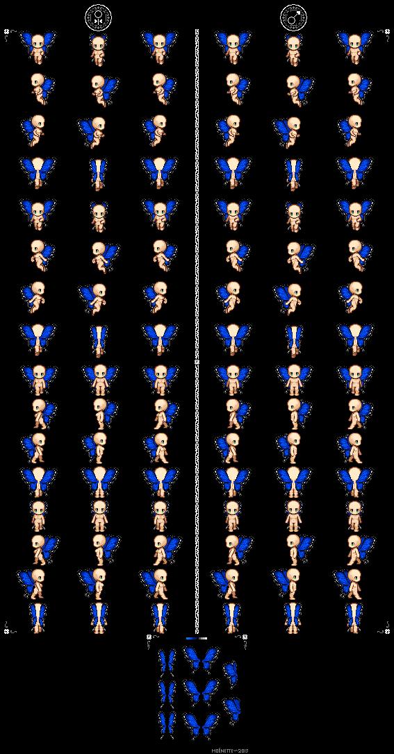Wings clipart pixel art Moenettewashere by Moenettewashere Wing Pack