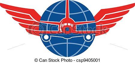Wings clipart plane Front Art Jumbo Vector Jet