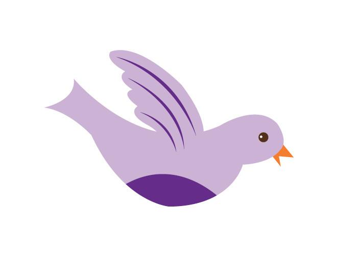 Wings clipart pretty bird WeeDECOR Pretty Wall Decal Decal