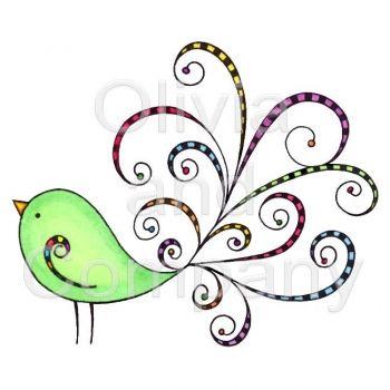 Wings clipart pretty bird Best Bird Retro on Applique