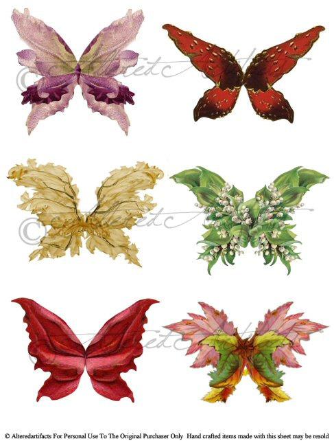 Wings clipart printable Printable art Wings Printable Fairy