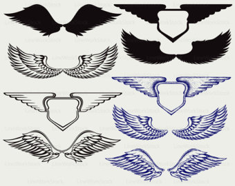 Wings clipart real bird Svg clipart svg Angel Angel
