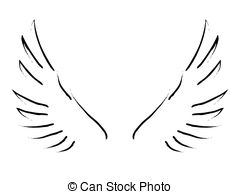 Wings clipart simple Of an wings sketch Illustration