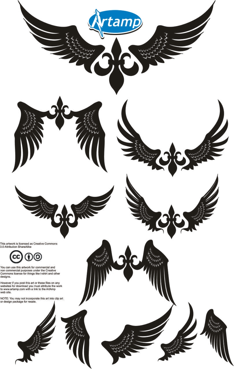 Wings clipart simple Free library Wing Free Clipart