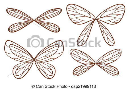 Wings clipart sketched Wings Art  Clip of