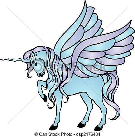 Wings clipart unicorn  wings Stock with of