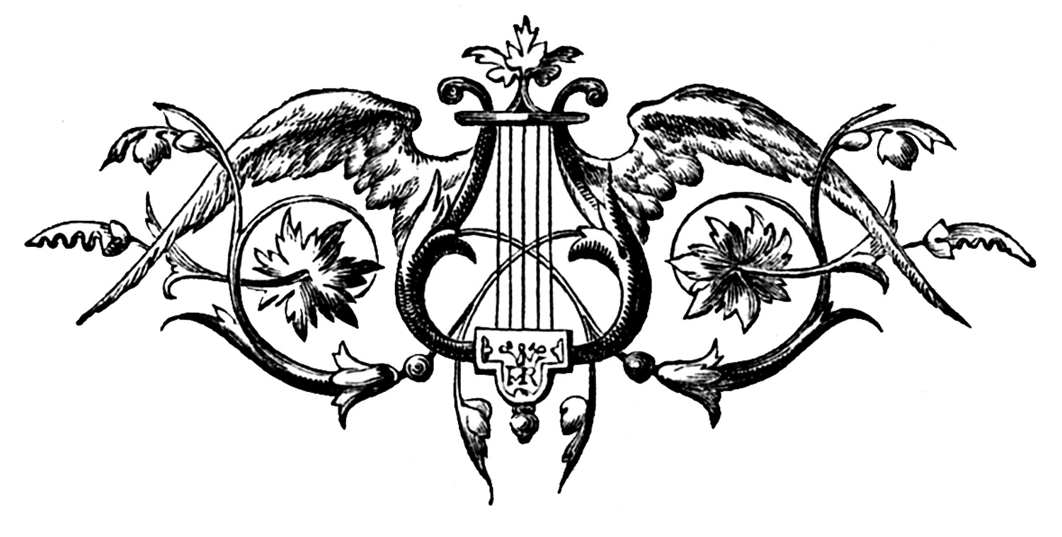 Wings clipart vintage Harp Angel This I from