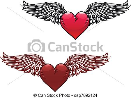 Wings clipart vintage  Vector with Vector wings