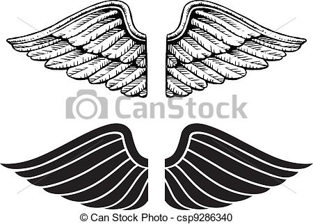 Wings clipart vintage Vintage Clip Wings Images art