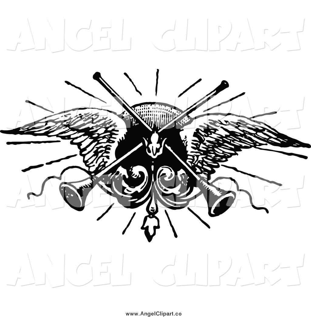 Wings clipart vintage And Prawny Trumpets Clip Wings
