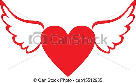 Wings clipart winged heart Search with Heart csp15512935 of