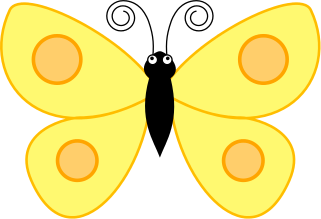 Wings clipart yellow Butterfly Download Art Spotted Butterfly