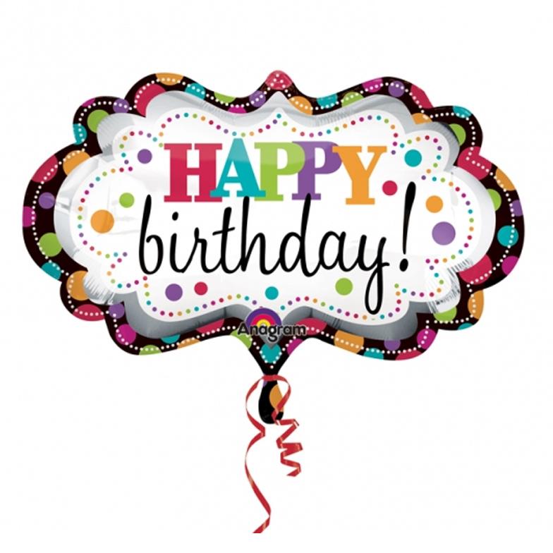 Balloon clipart happy birthday Marquee Birthday Happy Foil SuperShape