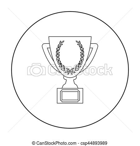 Winning clipart cup icon Cup on Gold isolated symbol