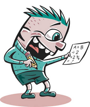 Winning clipart delighted A  enthusiastically problem math