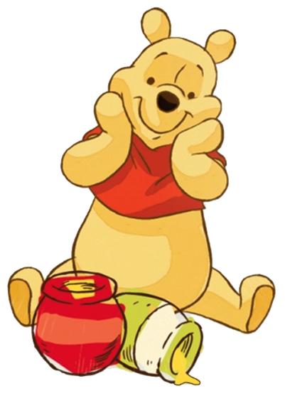 Winning clipart delighted The w/Honey w/Honey Clipart Pooh