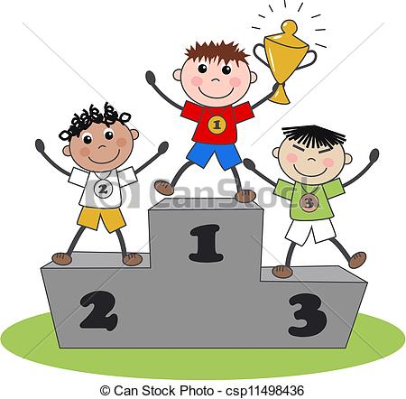 Winning clipart gold medal winner Silver and gold medals Vector