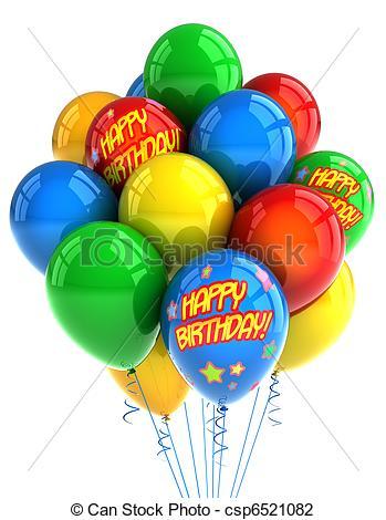 Balloon clipart happy birthday Birthday Happy Birthday free clip