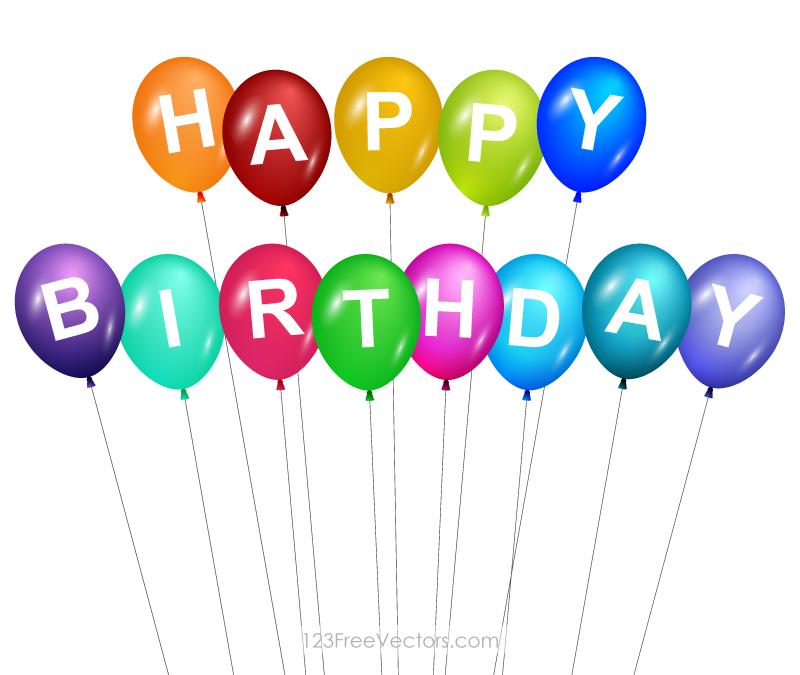 Photoshop clipart balloons Art Happy Free Birthday Clip