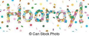 Winning clipart hooray  412 Letter Hooray Abstract