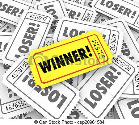 Winning clipart lottery ticket Golden Drawing of Lucky Jackpot