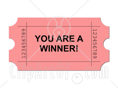 Winning clipart lottery ticket Art clipart Ticket Lottery ticket