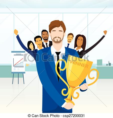 Winning clipart prize Business People Vector  Man