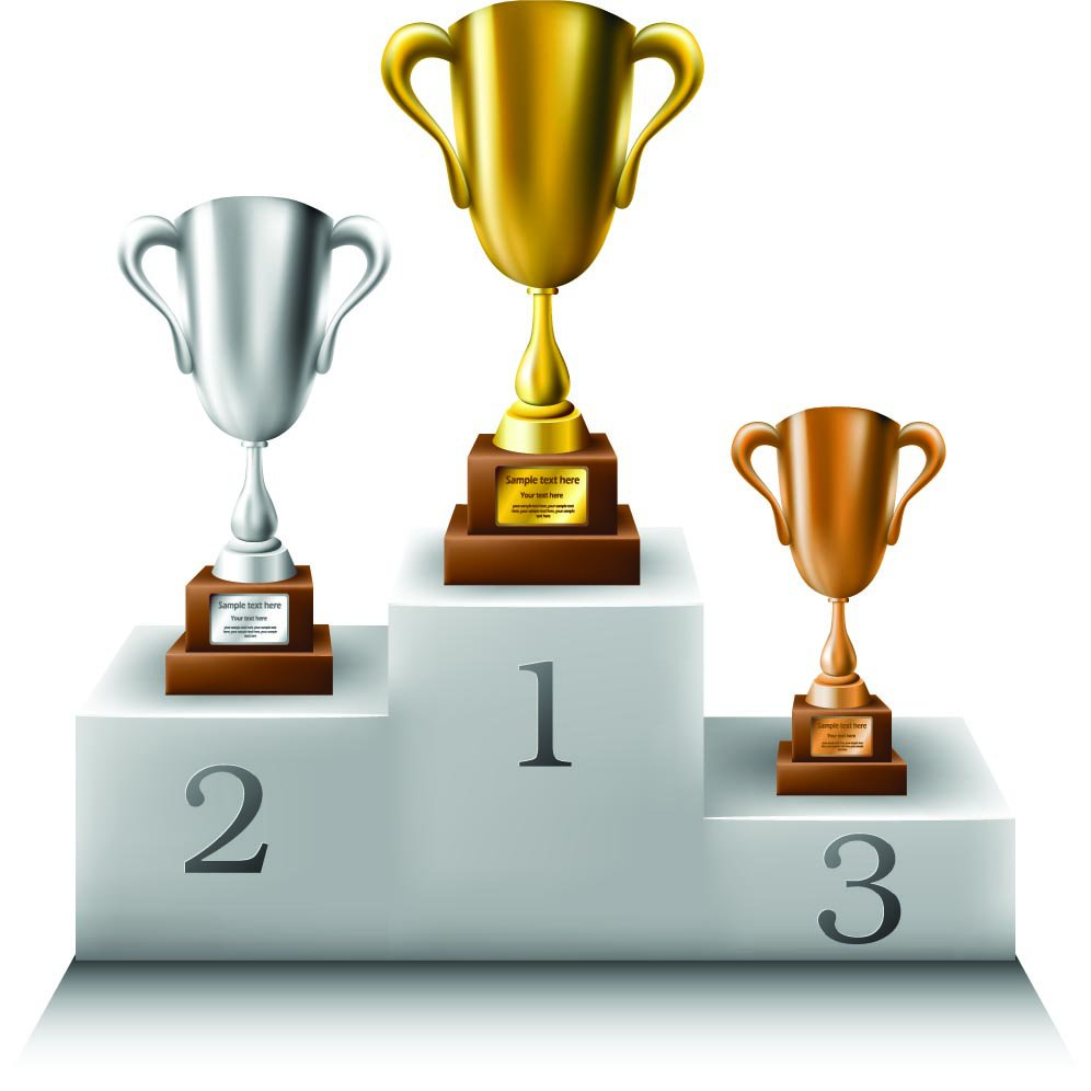 Winning clipart prize distribution 2nd Render Winner 3rd podium