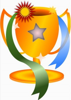 Winning clipart prize giving ceremony Art trophy (81+) Award free