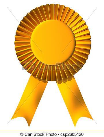Winning clipart ribbon logo First Illustration Ribbon award csp2685420