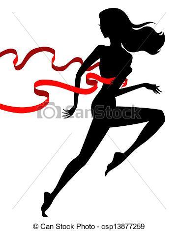 Winning clipart runner Female runner vector csp13877259 of