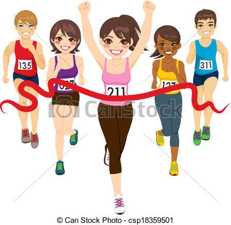 Winning clipart runner Runner Winner Marathon winning Female