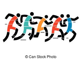 Winning clipart running race Race Running Vector Colorful