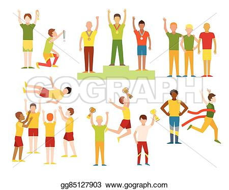 Winning clipart sports competition Character competition runner EPS success