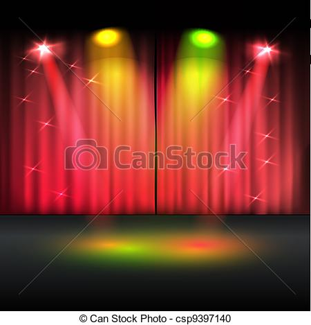 Winning clipart stage vector Illuminated of template  Vector