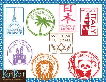 Stamp clipart passport #1