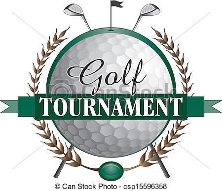 Trophy clipart tournament  a Clipart Golf Illustration