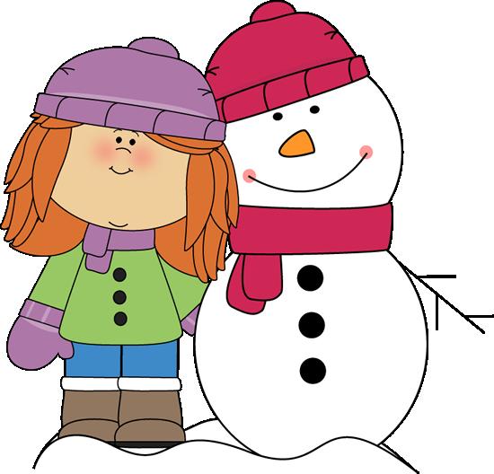 Blue Dress clipart kid winter boot Clip Snowman Art with Girl