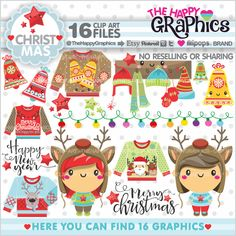 Winter clipart bbq Commercial Graphics Christmas Clipart Graphics