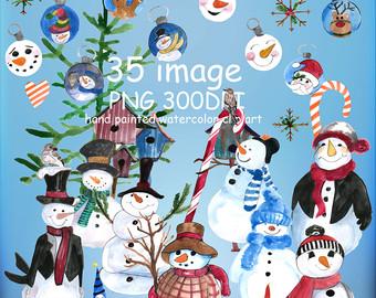 Winter clipart bbq SALE50% Watercolor Santa Clipart CLIP