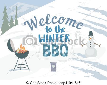 Winter clipart bbq  Winter of winter winter