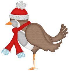 Winter clipart bird Cuttables  WINTER Scrapbooking Kate