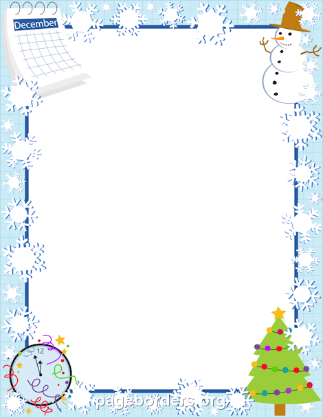 Winter clipart boarder Page and Graphics December Clip